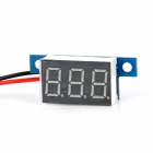 3-Digit Blue LED Panel Voltmeter for Electric Motorcycle (3.3V~17V)