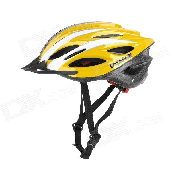 Laplace Q2 Outdoor Bike Bicycle Riding Helmet - Yellow + White