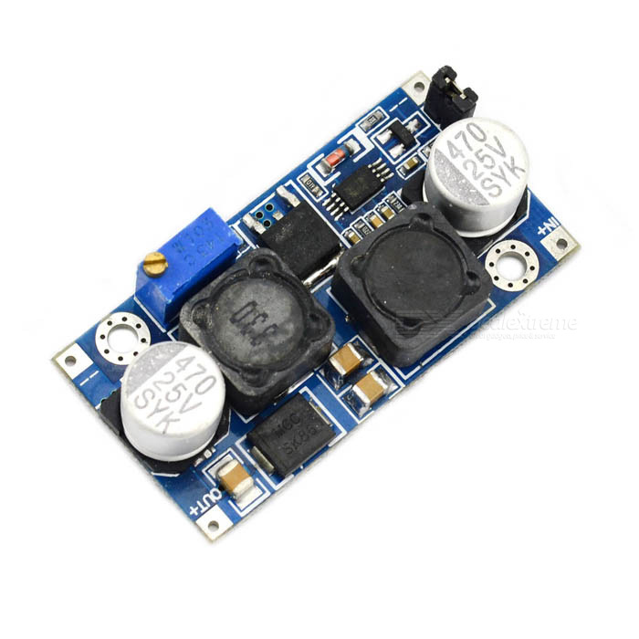 25W 3~15V to 0.5~30V Converter Auto Step-Up Step-Down Solar Power Supply Module - Blue
