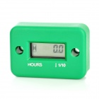 "1.0"" LCD Water Resistant Hour Meter for Motor + More - Green"