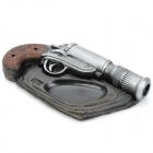 METTEL Creative Gun Style Resin Ashtray - Black + Silver + Brown