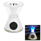 3-in-1 USB Aroma Diffuser + Clock + Colorful Night Light - White
