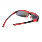 CARSHIRO LX-9291 Outdoor Sport Protection Polarized Sunglasses - Black + Red