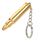Portable Bullet Style Cigarette Tobacco Smoking Pipe w/ Keychain - Golden
