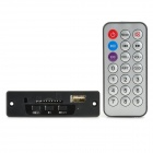 MP3 Hardware Decoder w/ FM / Remote Controller / USB / Mini USB / SD Slot - Black (12V)