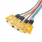 4-Channel Infrared Detector Tracked Photoelectric Sensor Obstacle Avoidance Module - Yellow + Black