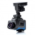 "HT200A 1.5"" LCD 5.0MP Wide Angle Car DVR Camcorder w/ SD / Mini USB / Mini HDMI - Black + Blue"