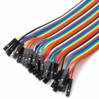 1-Pin Female to Female DuPont Cables for Arduino (40PCS / 30cm)