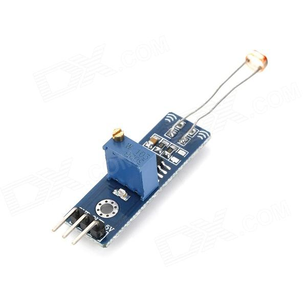 081822 Light Sensor Photoresistor Module - Blue xh m131 12v photoresistor module photoelectric sensor light sensor light control switch light detection