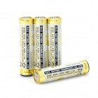 650mAh AAA Alkaline Batteries Set - Golden (4 PCS)