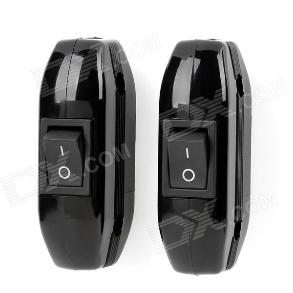 In-Line Lamp Light Rocker Switch - Black (2 PCS) automatic on off photocell street light switch photo control sensor switches safe switches