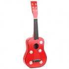 Musical Instrument Wooden 6-String Guitar - Red + Black + White