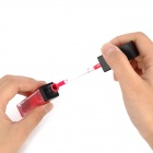 Moisturizing Lipstick Lip Gloss with 2 White LED Lights - Blood Red