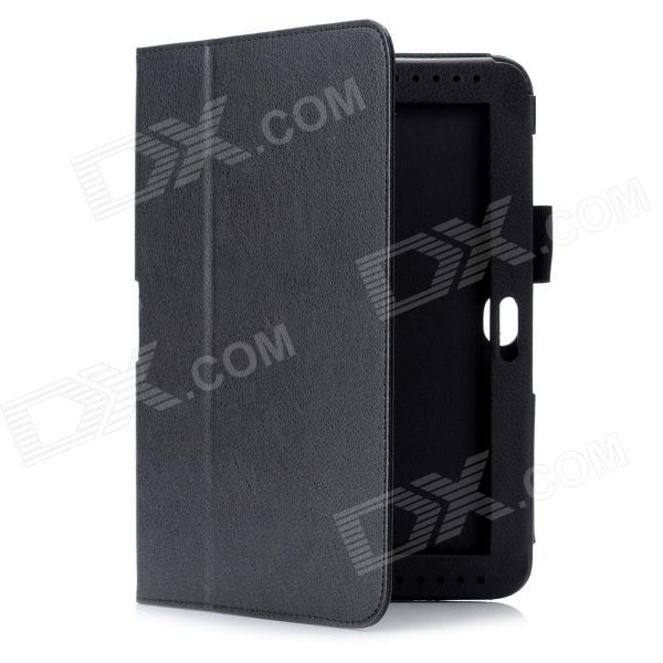 Protective PU Leather Case for Samsung Galaxy Note 10.1 / N8000 / N8010 - Black планшет samsung galaxy note 10 1 16gb gt n8000 black