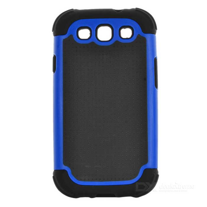 Protective Detachable Silicone Back Case w/ PC Cover for Samsung Galaxy S3 i9000 - Blue + Black 2 in 1 detachable protective tpu pc back case cover for samsung galaxy note 4 black