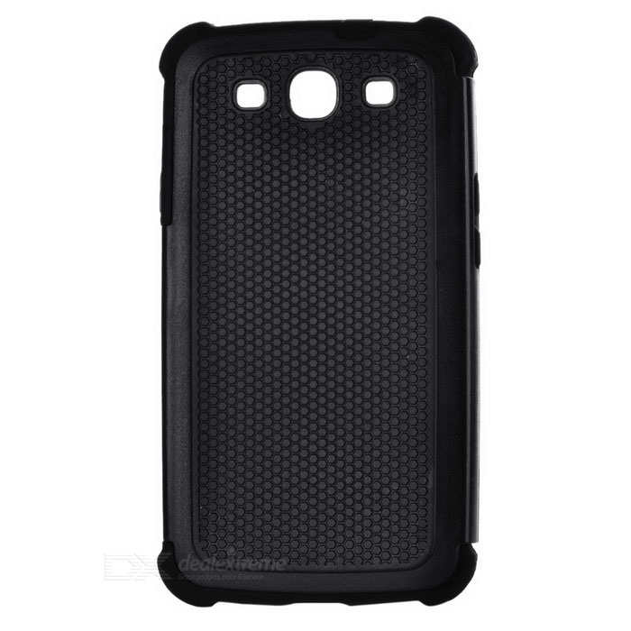 Protective Detachable Silicone Back Case w/ PC Cover for Samsung Galaxy S3 i9300 - Black 2 in 1 detachable protective tpu pc back case cover for samsung galaxy note 4 black