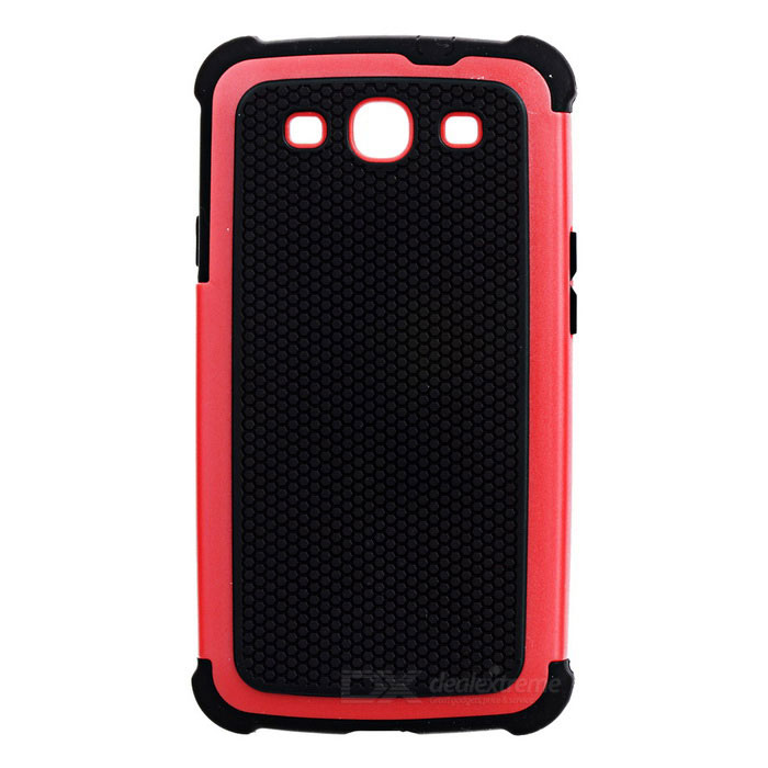 Protective Detachable Silicone Back Case w/ PC Cover for Samsung Galaxy S3 i9300 - Red + Black 2 in 1 detachable protective tpu pc back case cover for samsung galaxy note 4 black