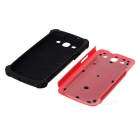 Protective Detachable Silicone Back Case w/ PC Cover for Samsung Galaxy S3 i9300 - Red + Black