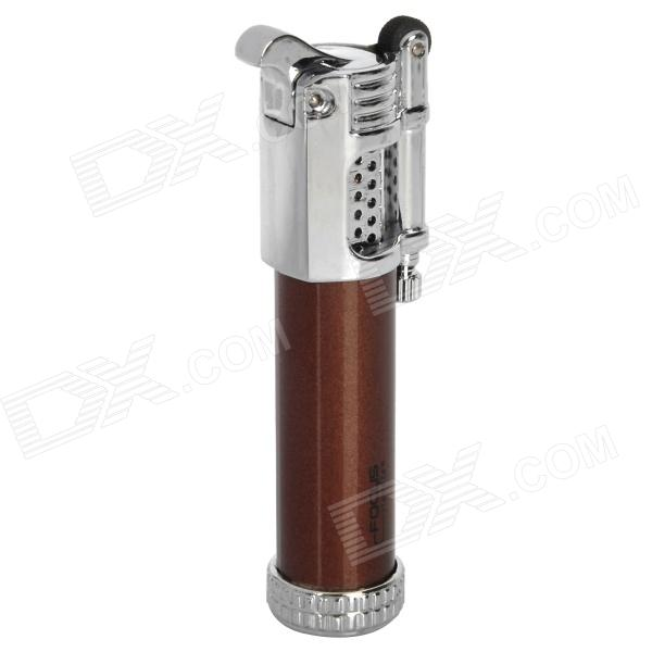 Windproof Flame Adjustable Butane Gas Jet Lighter - Brown + Silver novatrack novatrack велосипед extreme 24 рама 13 21 скорость синий