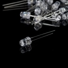 Leds 560 ~ 580nm 5mm haute vert clair - transparent (30 PCS)