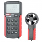 "UT362 2.7"" LCD Digital Wind Speed Meter Anemometer - Red + Grey (1 x 9V)"