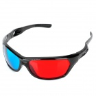 Universal 3D Plastic Frame Glasses - Black + Red + Blue