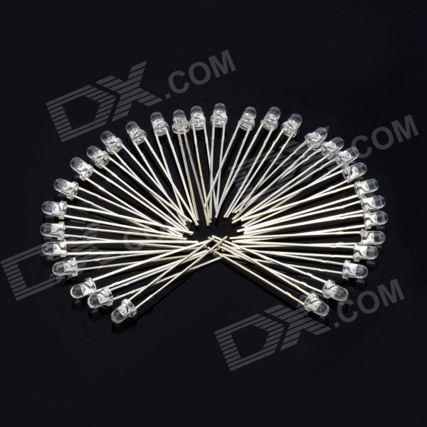 4800K 3mm High White Light LEDs - Silver (30 PCS)