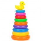 PE + PP 9-Color Rings + Duck Toy Set - Multicolored