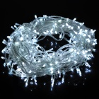 24W 300-LED 8-Mode Cold White Light Decorative Strip w/ Controller (30m / AC 220V / EU Plug)