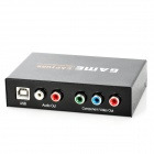 USB HD Game Video Capture w/ Component / Audio / LED for PS3 / X360 / Xbox - Black