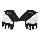 Outdoor Sports Cycling Half Finger Gloves - Black + White (Pair / Size-XL)