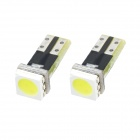 T5 1W 50lm 1-5050 SMD LED White Light Car Instrument Lamp Bulbs (2 PCS)