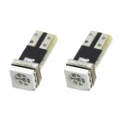 T5 1W 50lm 1-5050 SMD LED Red Light Car Indicator Lamp Bulbs (2 PCS)