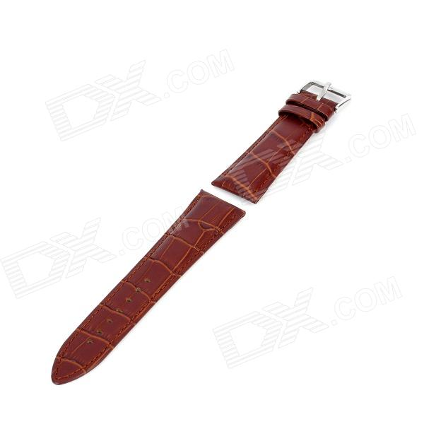 Replacement Artificial Leather Watchband - Light Brown