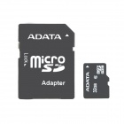 ADATA Micro SD SDHC Memory Card w/ SD Adapter - Black (32GB / Class 10)