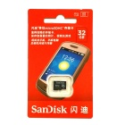 Genuine SanDisk Micro SDHC TF Memory Card - Black (32GB / Class 4)