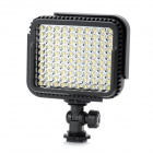 6W 5400K 755lm 100-LED Flash Video Lamp - Black