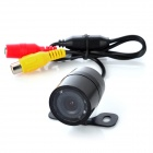 Car Wired Rear View Camera w/ 8-IR Night Vision LED Lights - Black (DC 12V)