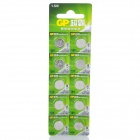GP AG10/LR54 1.5V Alkaline Button Cell Batteries (10-Pack)