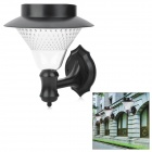 Solar Powered 0.64W 30lm 8-LED Cold White Light Wall Lamp - Black