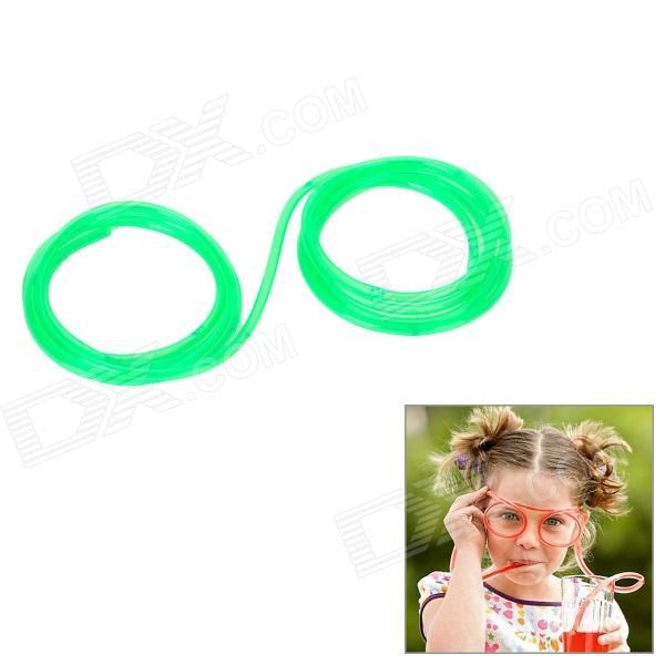 Funny Silicone Straw Drinking Glasses - Green