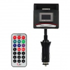 "1,0 ""LCD Auto MP3-Player FM Transmitter w / USB Slot / TF / iPhone 30 Pin / Remote Controller - Schwarz"