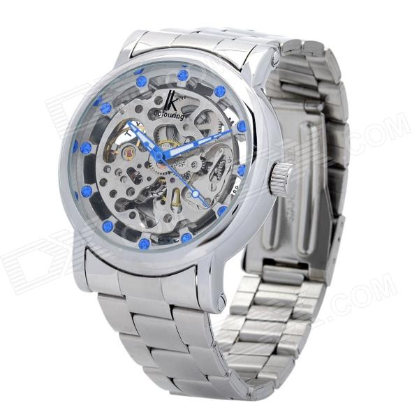 Genuine LK Colouring Stainless Steel Band Mechanical Wrist Watch for Men - Silver lige mens watches top brand luxury automatic mechanical tourbillon watch men luminous stainless steel wristwatch montre homme