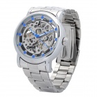 Genuine LK Colouring Stainless Steel Band Mechanical Wrist Watch for Men - Silver