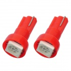 T5 1W 50lm 1-5050 SMD LED Red Light Car Instrument Lamp Bulbs (2 PCS)