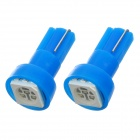 T5 1W 50lm 1-5050 SMD LED Blue Light Car Indicator Lamp Bulbs (2 PCS)