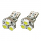 T5 1W 80lm 3-1210 SMD LED White Light Car Tail Lamp Bulbs (2 PCS)