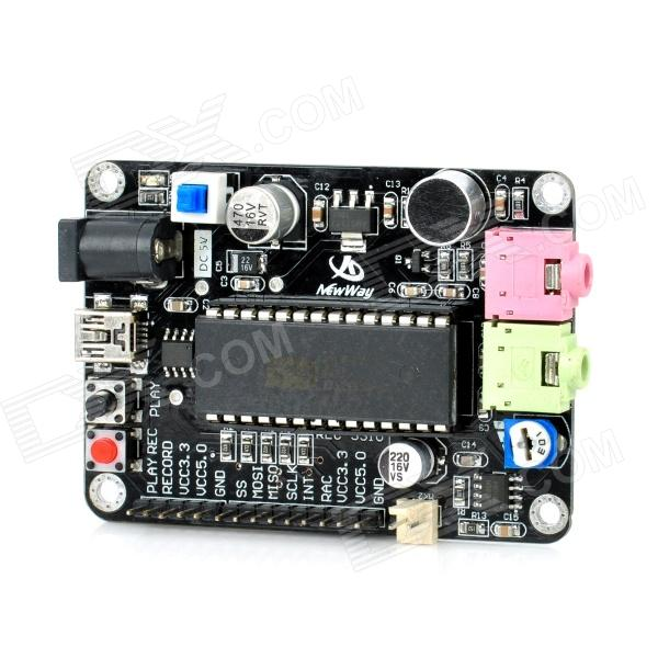 DIY ISD4004 On-board Microphone Voice Recording Module - Black cad u37 usb studio recording microphone