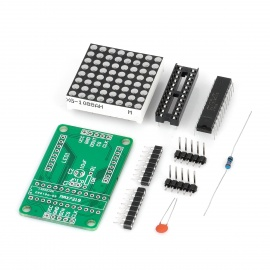 DIY MAX7219 Red LED Dot Matrix Display Module for Arduino (Works with Official Arduino Boards)