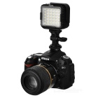2.2W 5400 K 230lm 36-LED Flash Video valaisin - musta